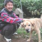ラッキー(雑種)は大好きなお父さんと会えて大興奮!2004.10.9