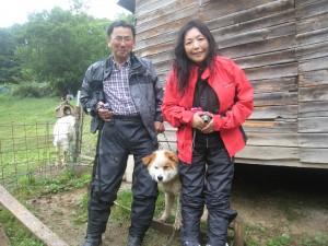 宗太くん(雑種)。この日はお父さんとお母さんがはるばるバイクに乗って会いに来てくれました。大満足!2010.7.8